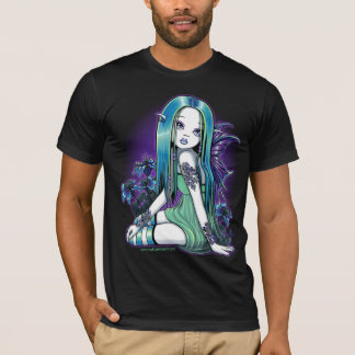 """Luna"" Gothic Moon Lilly Fairy Art T-Shirt"