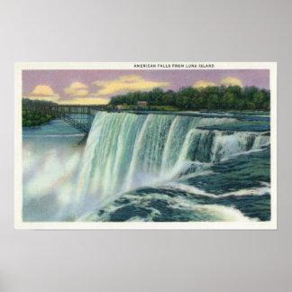 Luna Island View of American Falls Poster