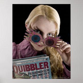 Luna Lovegood Peeks Over Glasses Print