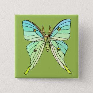 Luna Moth 15 Cm Square Badge