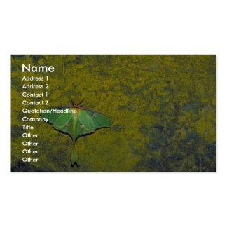 Luna moth business card