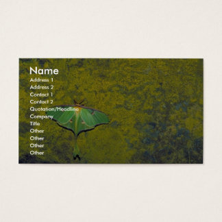 Luna moth business card