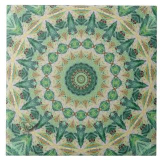 Luna Moth Kaleidoscope Ceramic Tile