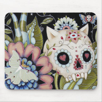 Luna Moth Kitty Scull Mouse Pads