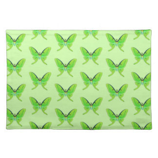 Luna moth on a pale green background placemat