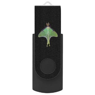 Luna Moth Swivel USB 2.0 Flash Drive