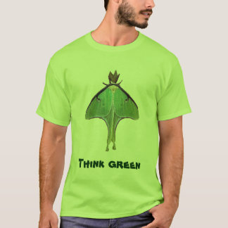 Luna Moth Think Green T-Shirt