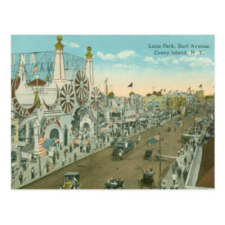 Luna Park Surf Avenue Postcard
