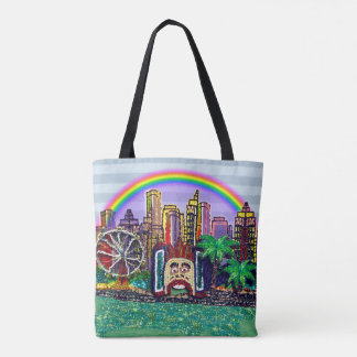 Luna Park Sydney Rainbow by Sequin Dreams Studio Tote Bag