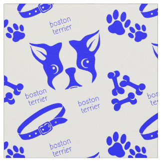 Luna Terrier in Blue Fabric
