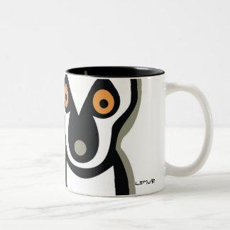 LUNA the LEMUR Two-Tone Coffee Mug