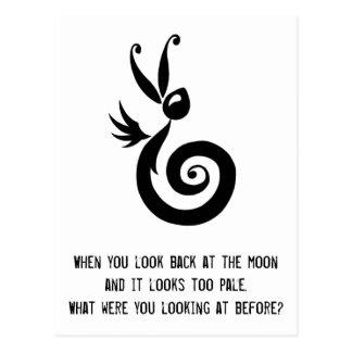 Luna the Shadow Rabbit Postcard
