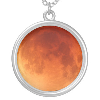 Lunar eclipse red moon 2011 necklace pendant