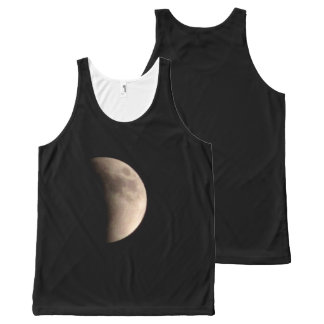 Lunar Eclipse with Craters All-Over Print Singlet