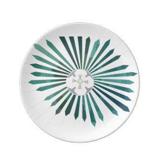 Lunar Flower Porcelain Plate