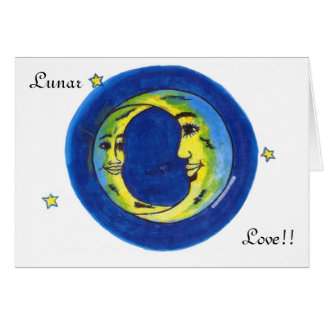 Lunar Love Note Card