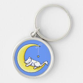 Lunar Love White Kitty Keychain