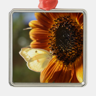 Lunar Moth Sun Landing Metal Ornament