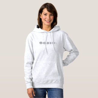 Lunar Phases Women's Ash Colored Hooded Sweatshirt