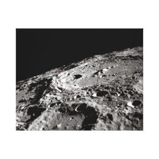 lunar surface canvas print