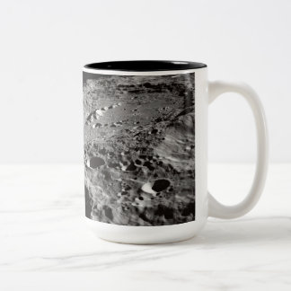 lunar surface Two-Tone coffee mug