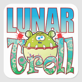 Lunar Troll Square Sticker
