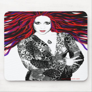 Luna's Wild Hair Mousepad