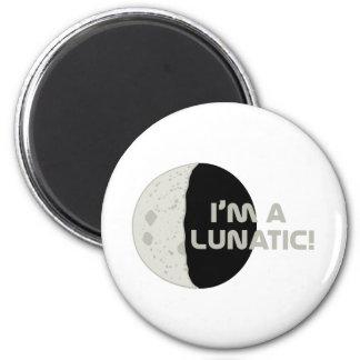 Lunatic! 6 Cm Round Magnet