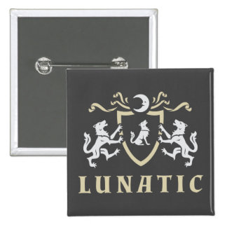 Lunatic Wolf Coat of Arms 15 Cm Square Badge