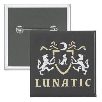 Lunatic Wolf Coat of Arms 15 Cm Square Badge