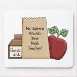 Lunch bag/Apple-World's Best Math Teacher's Name Mousemats