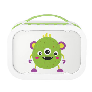 Lunch Box Monster Love Purple & Green