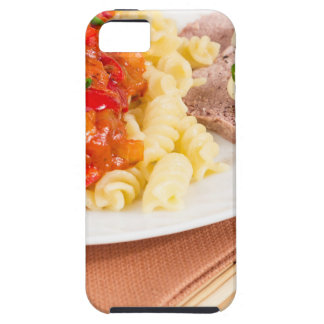 Lunch dish of Italian pasta, vegetable sauce Case For The iPhone 5