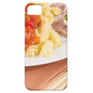 Lunch dish of Italian pasta, vegetable sauce iPhone 5 Cases