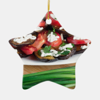 Lunch for a vegetarian ceramic ornament