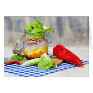 Lunch in a glass card