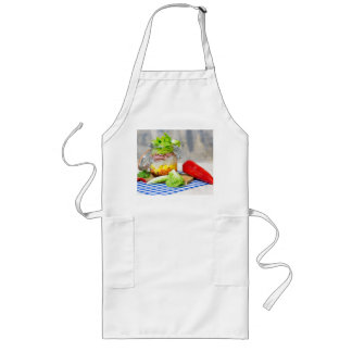 Lunch in a glass long apron