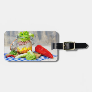 Lunch in a glass luggage tag