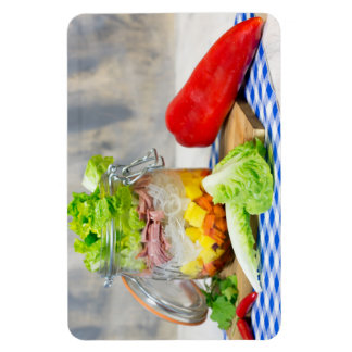 Lunch in a glass magnet