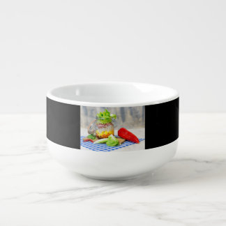 Lunch in a glass soup mug