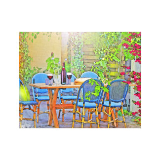 Lunch in Provence (the South of France) Canvas Print