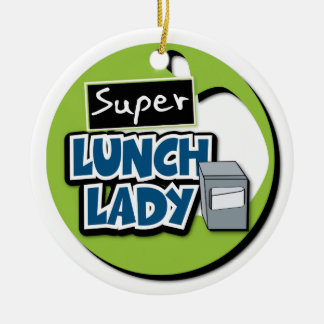 Lunch Lady - Super Lunch Lady Ceramic Ornament