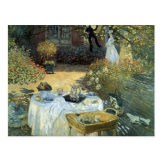 Luncheon by Claude Monet, Vintage Impressionism Postcard