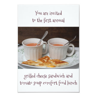 Luncheon Inivitations Grilled Cheese Tomato Soup Card
