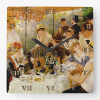Luncheon of the Boating Party- Auguste Renoir - Cl Wall Clocks