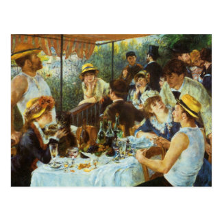 Luncheon of the Boating Party by Pierre Renoir Postcard
