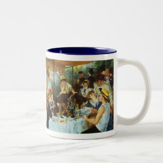 Luncheon of the Boating Party by Pierre Renoir Two-Tone Coffee Mug