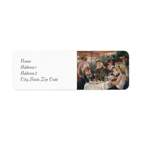 Luncheon of the Boating Party by Renoir Return Address Label