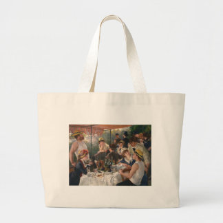 Luncheon Of The Boating Party Large Tote Bag