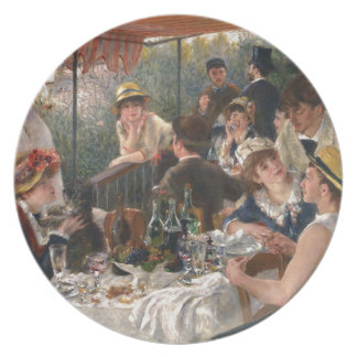 Luncheon Of The Boating Party Plate